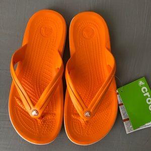 NWT Crocs flip flops size 8
